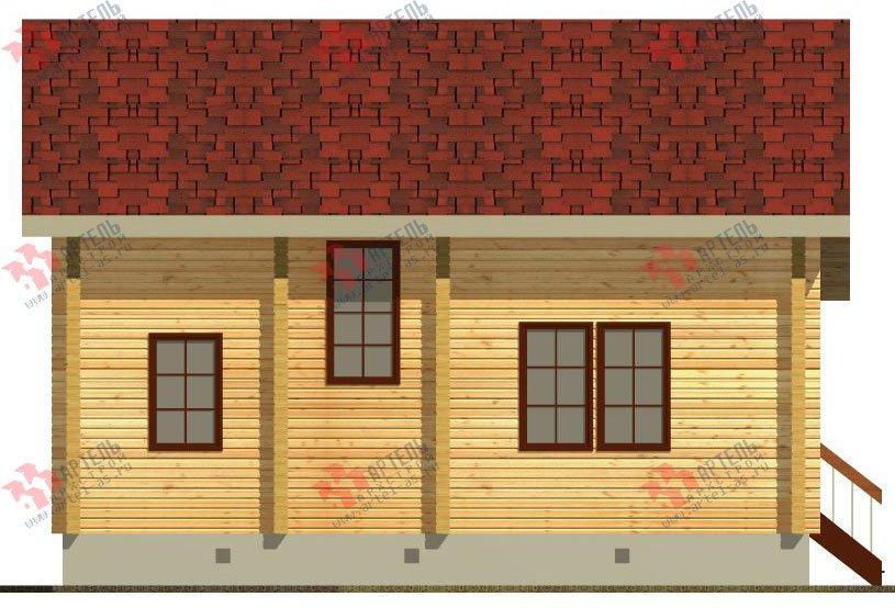 двухэтажный дом из профилированного бруса площадью от 100 до 150 кв. м. с  балконом, проект Вариант 9.5 К фотография 69