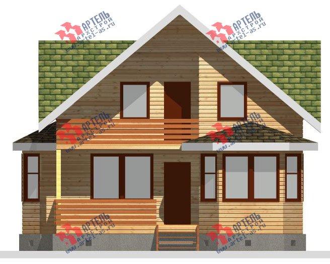 двухэтажный дом из бруса площадью от 150 до 200 кв. м. с  балконом, мансардой, террасой, эркером, проект Вариант 8 К-3 фотография 2467