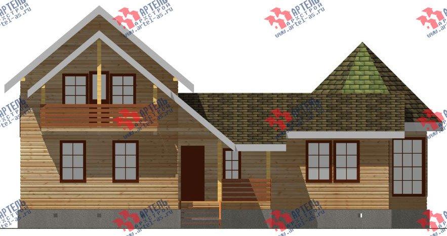 двухэтажный дом из профилированного бруса площадью от 150 до 200 кв. м. с  балконом, мансардой, эркером, проект Вариант 9 Е-1 фотография 2595