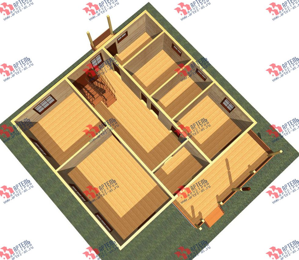двухэтажный дом из бруса площадью свыше 200 кв. м. с  мансардой, террасой, проект Вариант 11 Л-1 фотография 2627