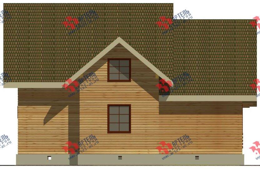 двухэтажный дом из бруса площадью от 150 до 200 кв. м. с  балконом, террасой, эркером, проект Вариант 12.4 А фотография 2681
