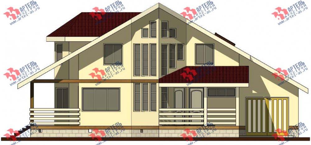 двухэтажный дом из бруса площадью от 150 до 200 кв. м. с  мансардой, террасой, эркером, проект Вариант 10 фотография 3007