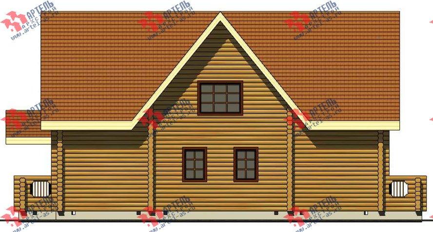 двухэтажный дом из оцилиндрованного бревна площадью свыше 200 кв. м. с  балконом, террасой, проект Вариант 3 фотография 3048