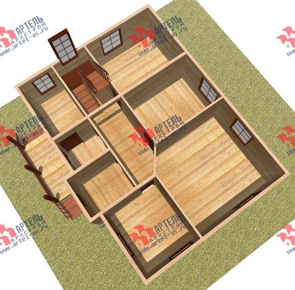 двухэтажный дом из бруса площадью от 150 до 200 кв. м. с  мансардой, проект Вариант 11 Л-2 фотография 3167