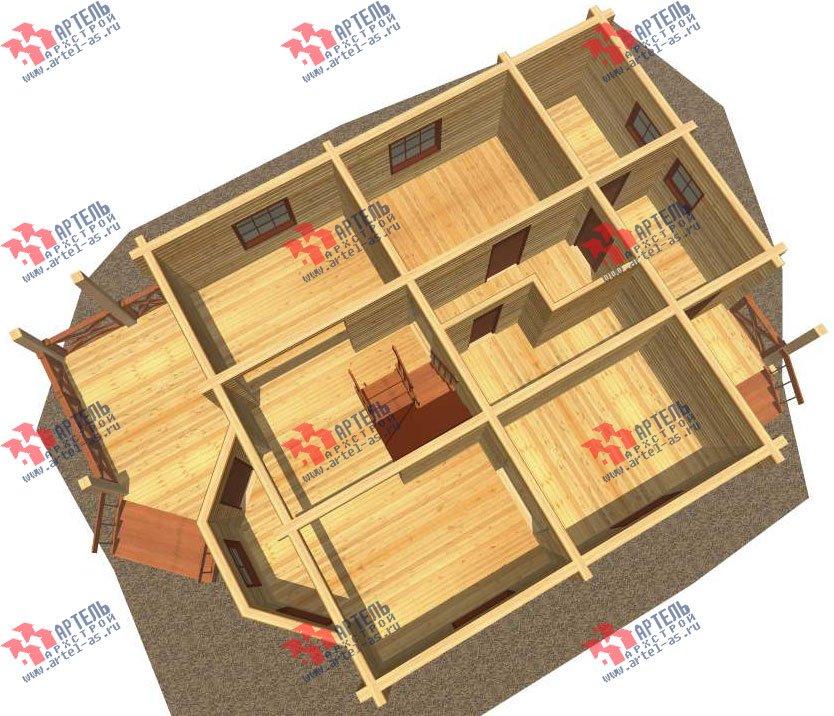 двухэтажный дом из профилированного бруса площадью от 150 до 200 кв. м. с  мансардой, террасой, проект Вариант 8.3 А фотография 3226