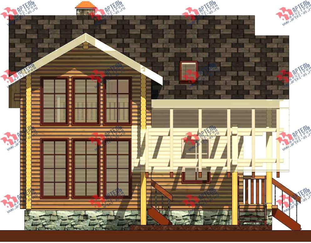двухэтажный проект площадью от 100 до 150 кв. м. с  мансардой, террасой, проект Вариант 8.7 А фотография 3281