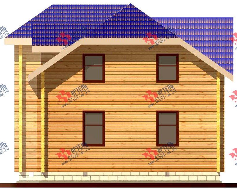 двухэтажный дом из профилированного бруса площадью от 100 до 150 кв. м. с  мансардой, эркером, проект Вариант 8 Т фотография 243
