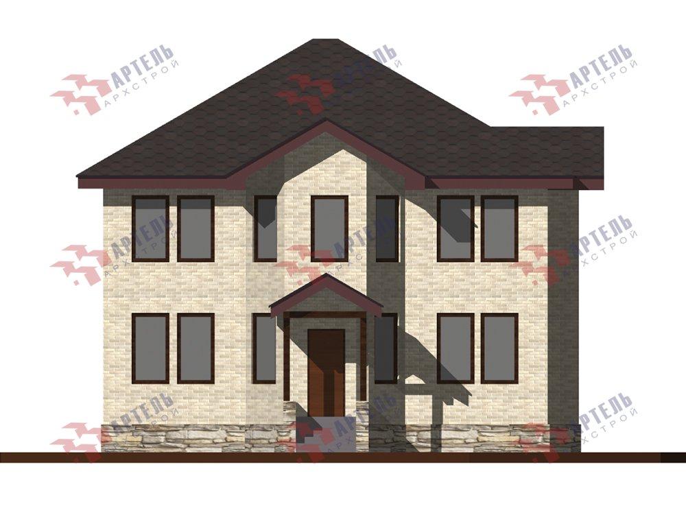 двухэтажный дом омбинированные дома площадью свыше 200 кв. м. с  эркером, проект Вариант 10,6К Камень и Комбинированный фотография 6270