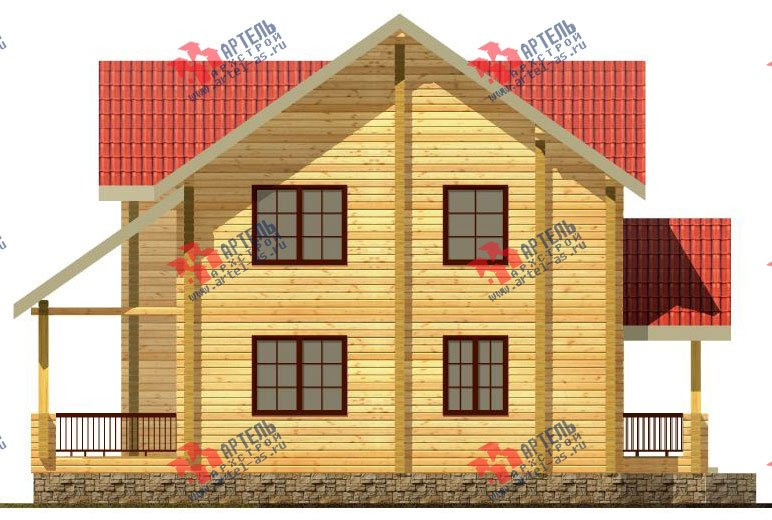 двухэтажный дом из профилированного бруса площадью от 150 до 200 кв. м. с  мансардой, террасой, проект Вариант 9.5 Т фотография 90