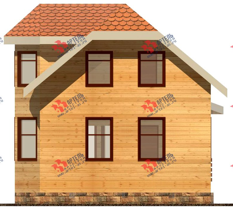 двухэтажный дом из бруса площадью до 100 кв. м. с  мансардой, эркером, проект Вариант 6.2 А фотография 712
