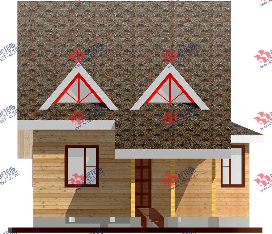двухэтажный дом из профилированного бруса площадью до 100 кв. м. с  мансардой, эркером, проект Вариант 7 В фотография 799
