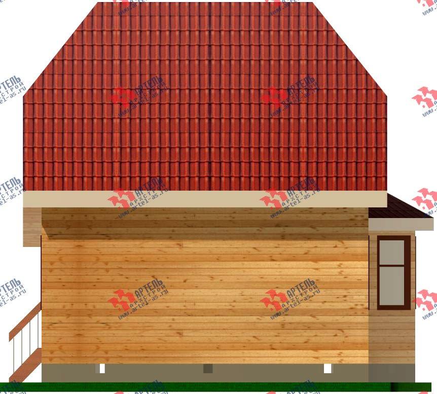 двухэтажный дом из профилированного бруса площадью до 100 кв. м. с  мансардой, эркером, проект Вариант 7 Е-1 фотография 837