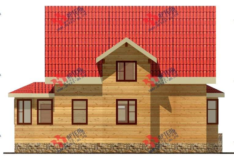 двухэтажный дом из бруса площадью от 100 до 150 кв. м. с  верандой, мансардой, эркером, проект Вариант 8.5 Г фотография 994