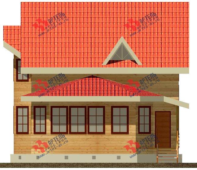 двухэтажный дом из бруса площадью от 150 до 200 кв. м. с  мансардой, эркером, проект Вариант 8.4 К фотография 1229