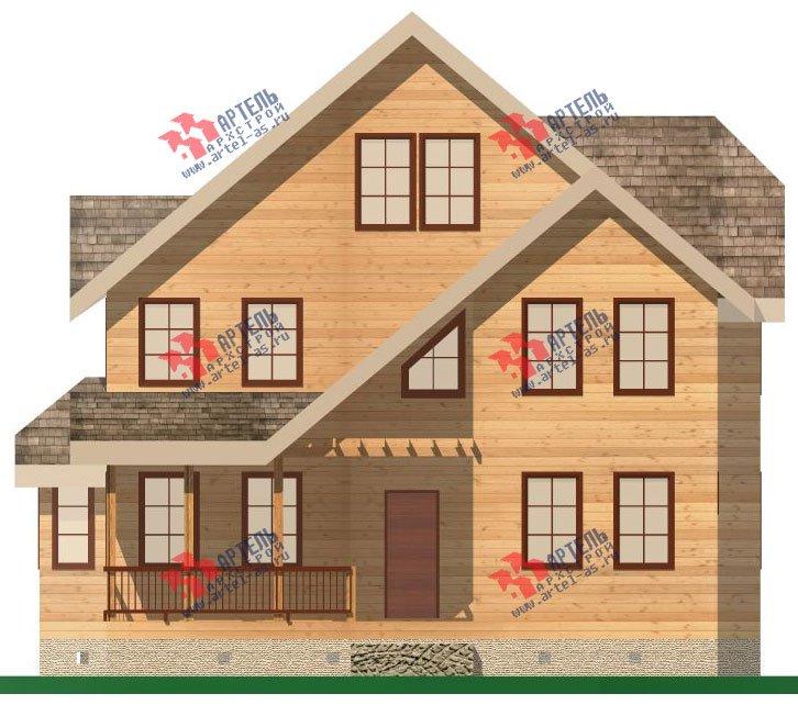 двухэтажный дом из бруса площадью свыше 200 кв. м. с  террасой, эркером, проект Вариант 15.1 А фотография 1495