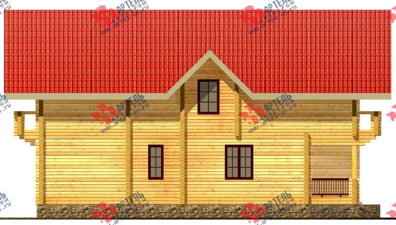 двухэтажный дом из бруса площадью свыше 200 кв. м. с  балконом, мансардой, проект Вариант 11.4 А фотография 123