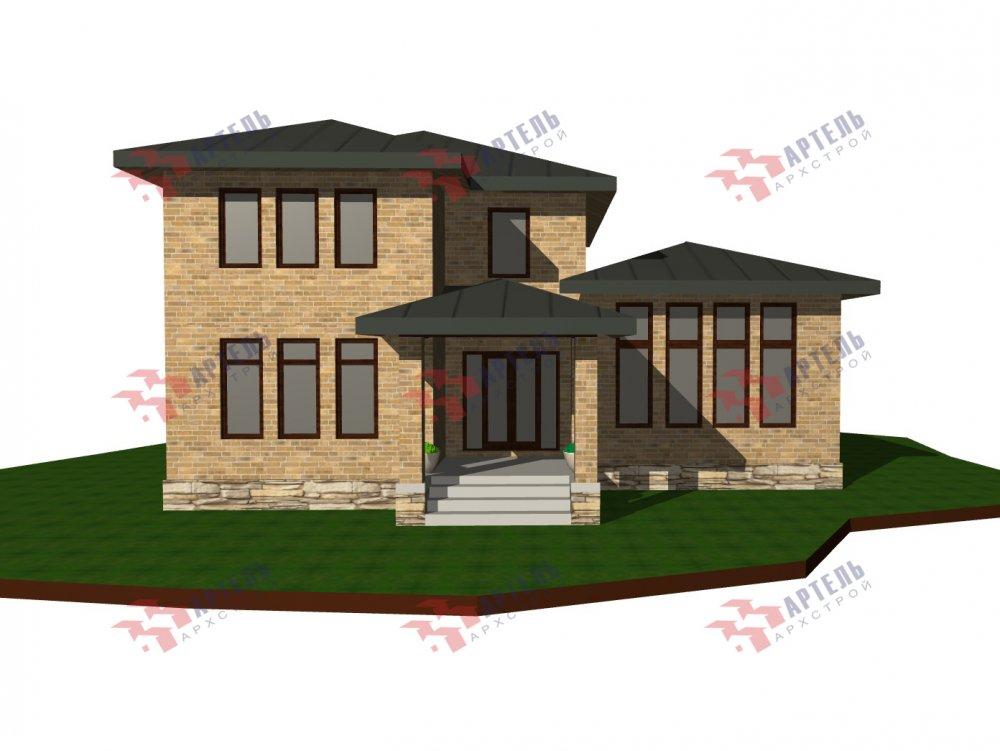 дом омбинированные дома площадью от 150 до 200 кв. м. с  мансардой, проект Вариант 13,5Б Камень и Комбинированный фотография 6119