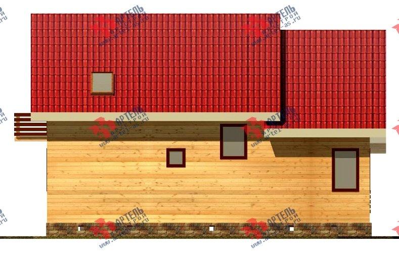 двухэтажный дом из бруса площадью от 150 до 200 кв. м. с  балконом, мансардой, проект Вариант 8.7 К фотография 2139