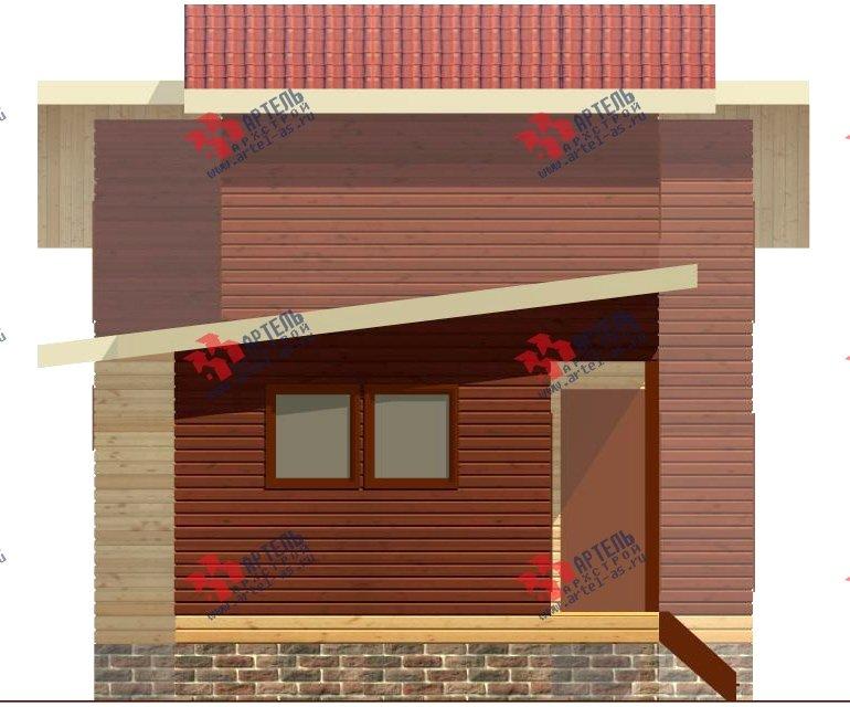 двухэтажный дом из бруса площадью до 100 кв. м. с  мансардой, проект Вариант 7 Л фотография 2164