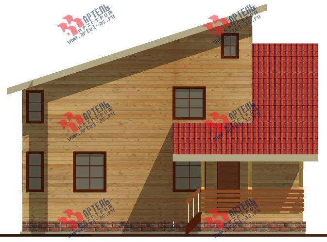 двухэтажный дом из бруса площадью от 150 до 200 кв. м. с  мансардой, террасой, проект Вариант 13 В фотография 2222