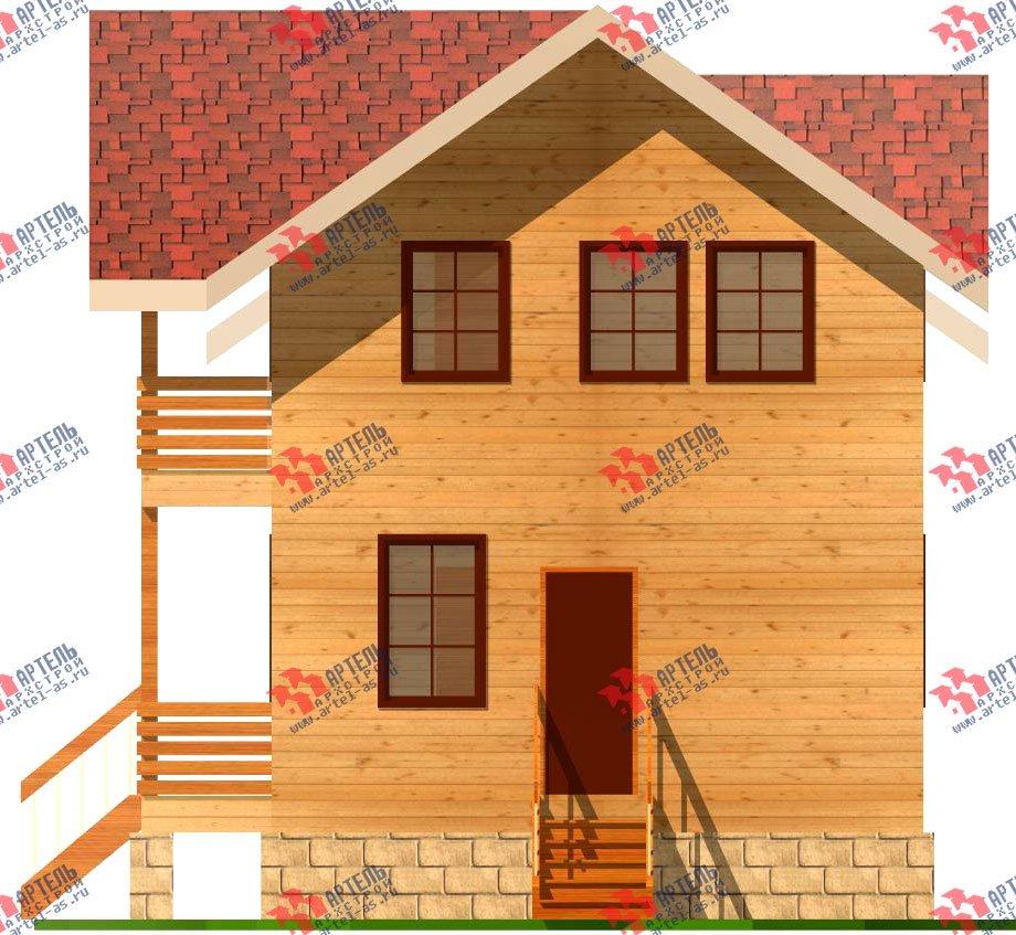 двухэтажный дом из бруса площадью от 150 до 200 кв. м. с  балконом, проект Вариант 6 О-1 фотография 2277