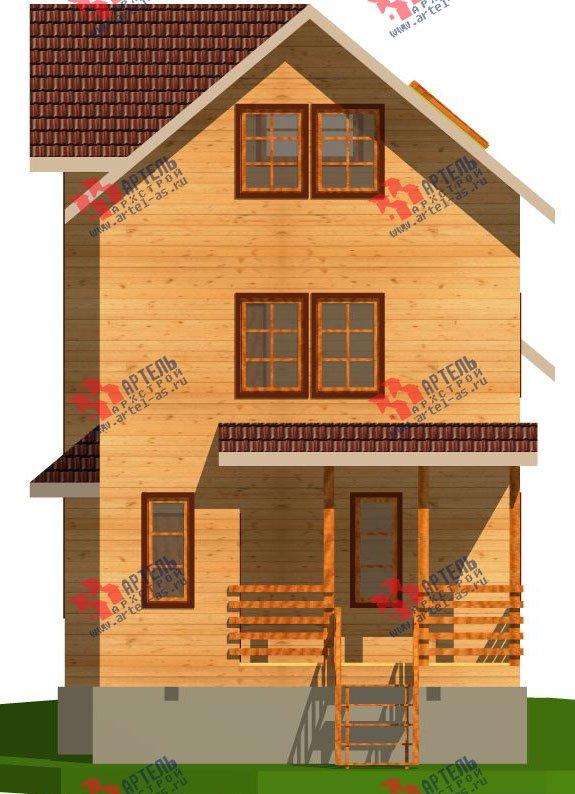 трёхэтажный дом из бруса площадью свыше 200 кв. м. с  балконом, мансардой, проект Вариант 6.3 Н фотография 2296