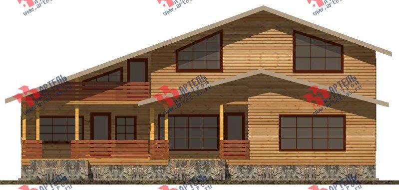 двухэтажный дом из бруса площадью свыше 200 кв. м. с  балконом, мансардой, террасой, проект Вариант 18 А фотография 2418