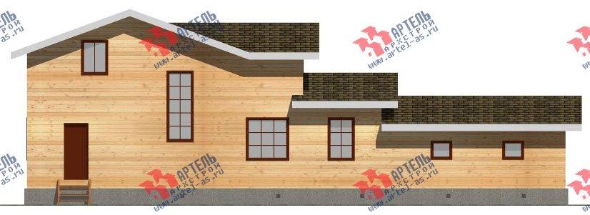 двухэтажный дом из бруса площадью от 150 до 200 кв. м. с  гаражом, мансардой, проект Вариант 8.6 Б фотография 2437