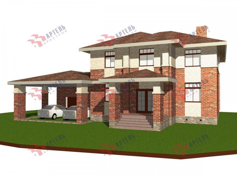 двухэтажный дом омбинированные дома площадью свыше 200 кв. м., проект Вариант 18,4А Камень и Комбинированный фотография 6065