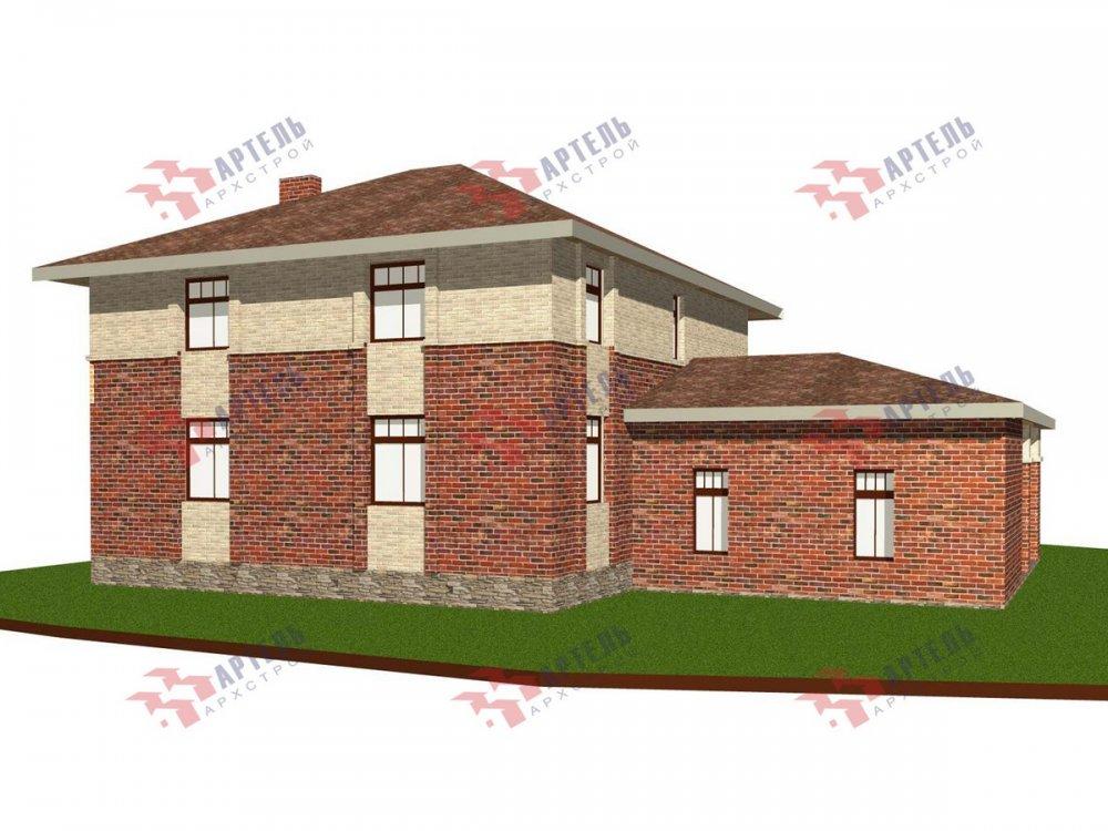 двухэтажный дом омбинированные дома площадью свыше 200 кв. м., проект Вариант 18,4А Камень и Комбинированный фотография 6066