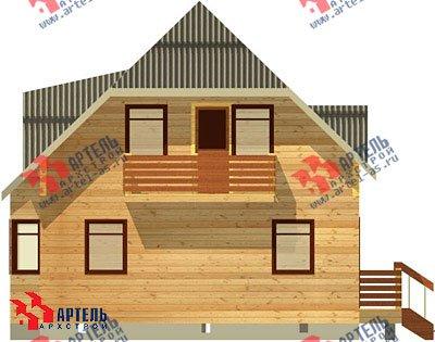 двухэтажный дом из профилированного бруса площадью от 100 до 150 кв. м. с  балконом, мансардой, эркером, проект Вариант 7.5 А фотография 787