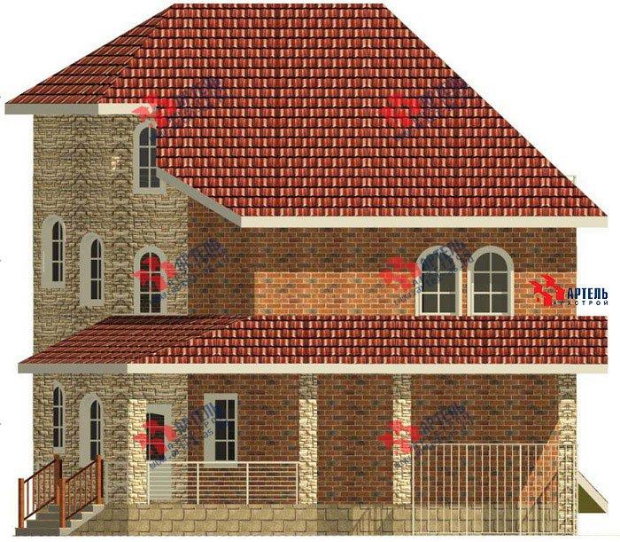 трёхэтажный дом из камня площадью свыше 200 кв. м. с  балконом, террасой, эркером, проект Вариант 4 фотография 476
