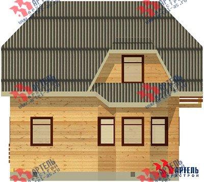 двухэтажный дом из профилированного бруса площадью от 100 до 150 кв. м. с  балконом, мансардой, эркером, проект Вариант 7.5 А фотография 788
