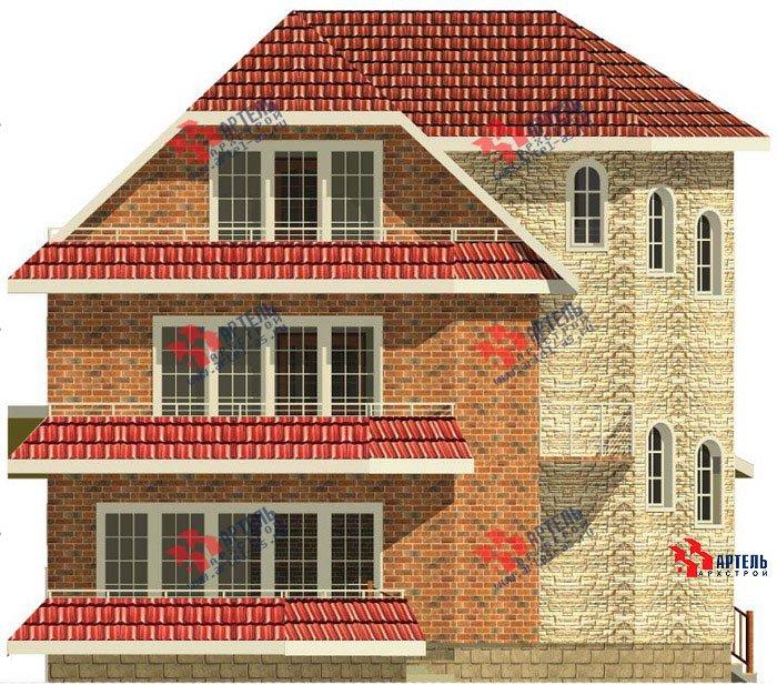 трёхэтажный дом из камня площадью свыше 200 кв. м. с  балконом, террасой, эркером, проект Вариант 4 фотография 479
