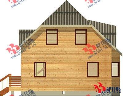 двухэтажный дом из профилированного бруса площадью от 100 до 150 кв. м. с  балконом, мансардой, эркером, проект Вариант 7.5 А фотография 790