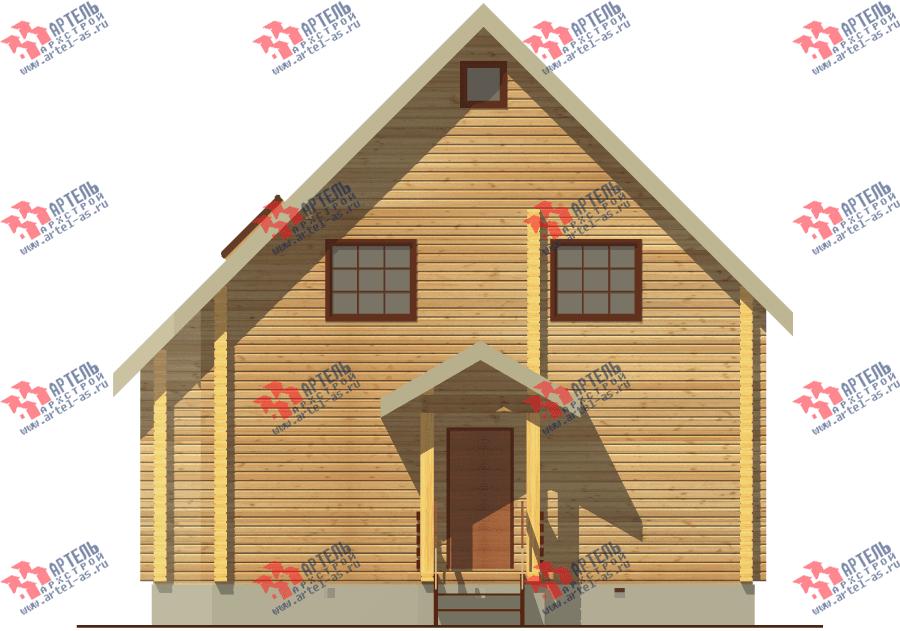 двухэтажный дом из бруса площадью от 100 до 150 кв. м. с  балконом, мансардой, проект Вариант 8 Ф фотография 3335