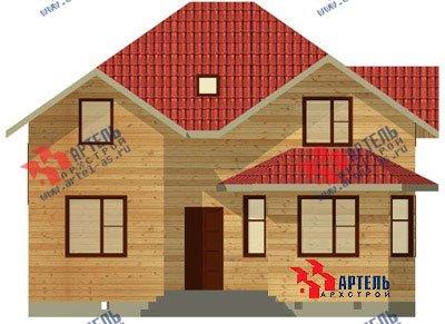 двухэтажный дом из бруса площадью от 150 до 200 кв. м. с  мансардой, эркером, проект Вариант 9.5 А фотография 1207