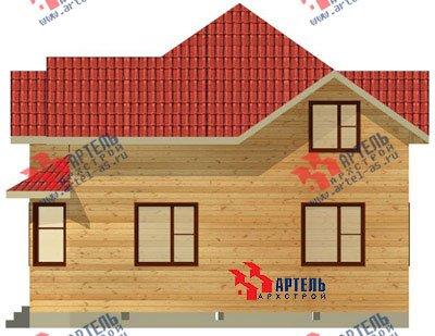 двухэтажный дом из бруса площадью от 150 до 200 кв. м. с  мансардой, эркером, проект Вариант 9.5 А фотография 1208