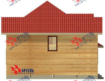 двухэтажный дом из бруса площадью от 150 до 200 кв. м. с  мансардой, эркером, проект Вариант 9.5 А фотография 1210