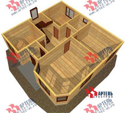двухэтажный дом из бруса площадью от 150 до 200 кв. м. с  мансардой, эркером, проект Вариант 9.5 А фотография 1211