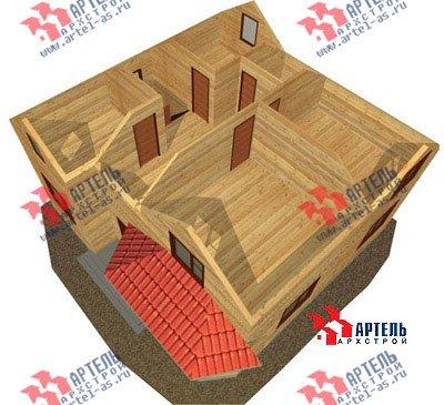 двухэтажный дом из бруса площадью от 150 до 200 кв. м. с  мансардой, эркером, проект Вариант 9.5 А фотография 1212