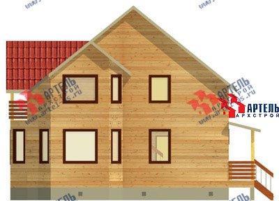 двухэтажный дом из бруса площадью от 150 до 200 кв. м. с  балконом, мансардой, эркером, проект Вариант 9 В фотография 1249