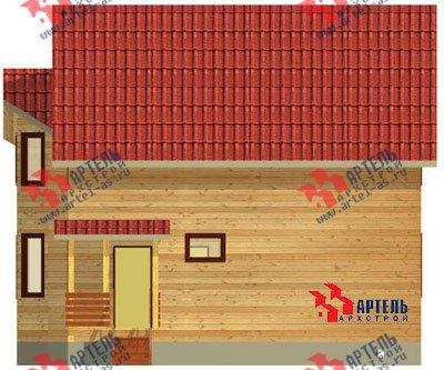 двухэтажный дом из бруса площадью от 150 до 200 кв. м. с  балконом, мансардой, эркером, проект Вариант 9 В фотография 1250