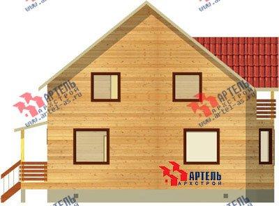 двухэтажный дом из бруса площадью от 150 до 200 кв. м. с  балконом, мансардой, эркером, проект Вариант 9 В фотография 1251