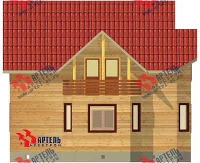 двухэтажный дом из бруса площадью от 150 до 200 кв. м. с  балконом, мансардой, эркером, проект Вариант 9 В фотография 1252