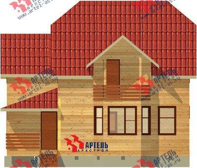 двухэтажный дом из бруса площадью от 150 до 200 кв. м. с  балконом, верандой, мансардой, эркером, проект Вариант 9 М фотография 1285