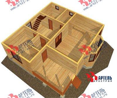 двухэтажный дом из бруса площадью от 150 до 200 кв. м. с  балконом, верандой, мансардой, эркером, проект Вариант 9 М фотография 1288