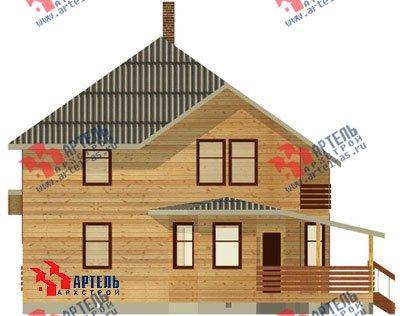 двухэтажный дом из профилированного бруса площадью свыше 200 кв. м. с  балконом, мансардой, террасой, эркером, проект Вариант 10.5 А фотография 1327