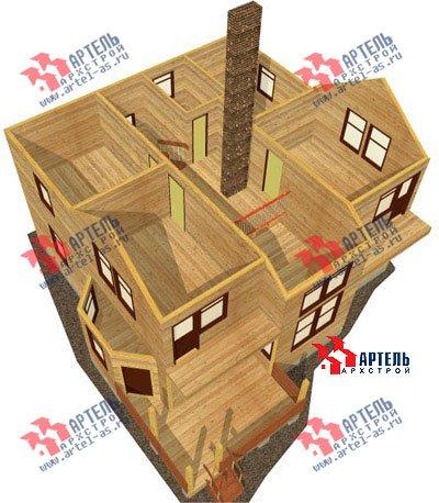двухэтажный дом из профилированного бруса площадью свыше 200 кв. м. с  балконом, мансардой, террасой, эркером, проект Вариант 10.5 А фотография 1329