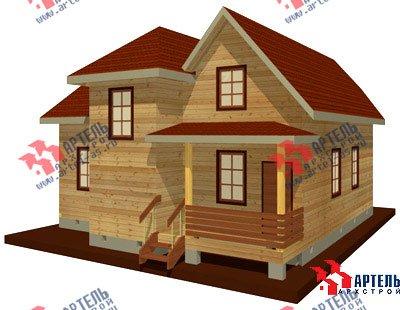 двухэтажный дом из бруса площадью от 150 до 200 кв. м. с  мансардой, террасой, эркером, проект Вариант 10 Д фотография 1354